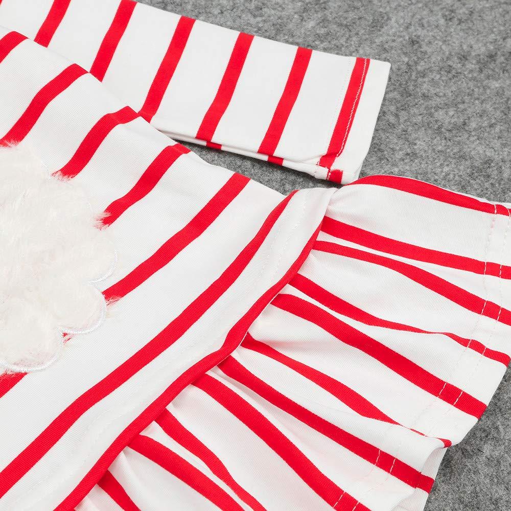 Vestidos niñas Ropa de Navidad para bebés Niño pequeño Niños Niñas Princesa a Rayas Vestido Trajes de Navidad Ropa 6 Mes - 5 Años ❤ Modaworld: Amazon.es: ...