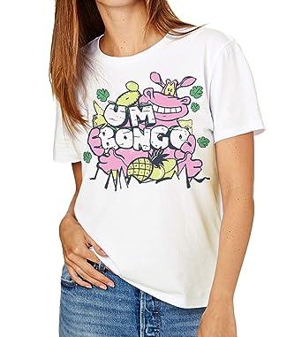 Retro Tees Ladies UM Bongo T-Shirt Featuring Cartoon Hippo: Amazon