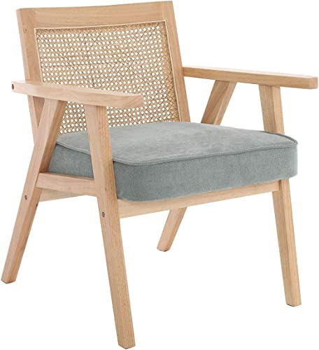 ZH4YOU Mid-Century Rattan Accent Chair