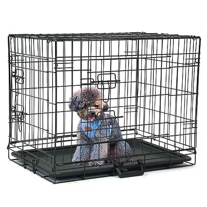Amazon Com 24 Folding Dog Pet Cage Steel Kennel 2 Door Crates