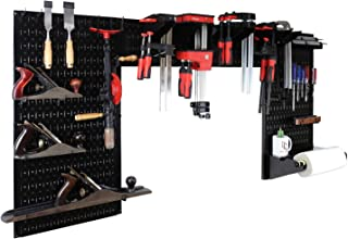 product image for Wall Control Woodworking Tool Storage Organization Kit - Lazy Guy DIY Edition Wood Working Tool Supply Organizer for Do-It-Yourself Woodworkers and Makers (Black Pegboard)