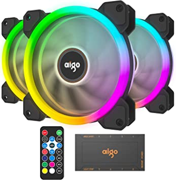 Remote Control Lot Computer Case PC 6Pin RGB Cooling Fan LED 120mm Quiet Cooler