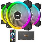 Vetroo DR12 3IN1 120mm 外壳风扇 RGB LED 可调节颜色 安静 高气流 长寿命 电脑壳 电脑散热风扇 适用于电脑箱 CPU 散热器和散热器