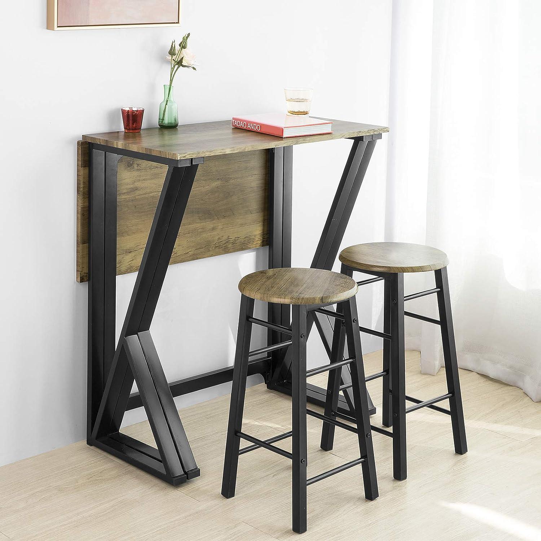 SoBuy OGT16-N 16-teilige Essgruppe Esstisch mit 16 Stühlen Klapptisch  Esszimmer Sitzgruppe Küche Küchentisch Holztisch klappbar im Industrial-Look