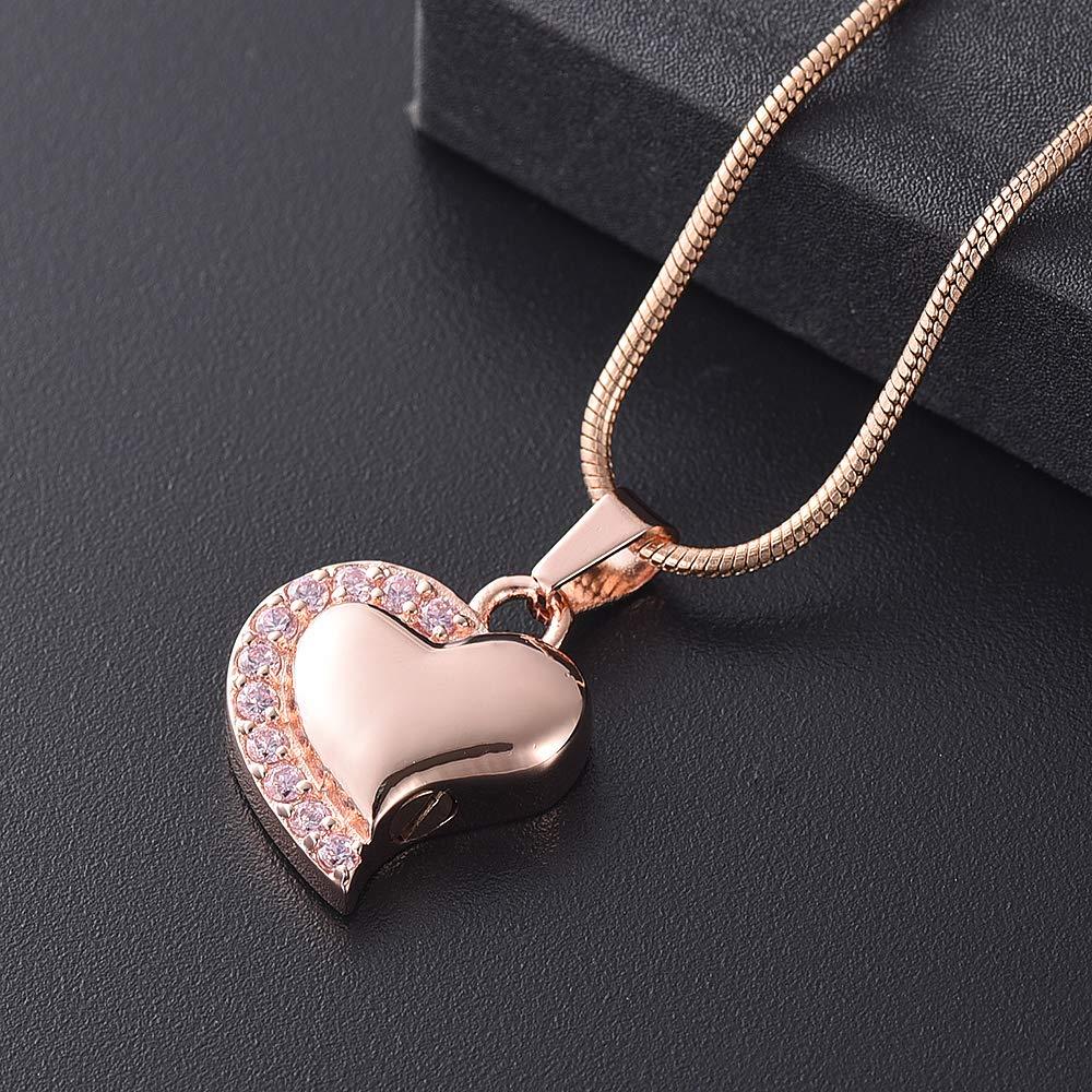 Crystal Heart Urn Pendant Keepsake Memorial Necklace for Ashes Pendant Locket Ashes Holder Keepsake Funeral Jewelry