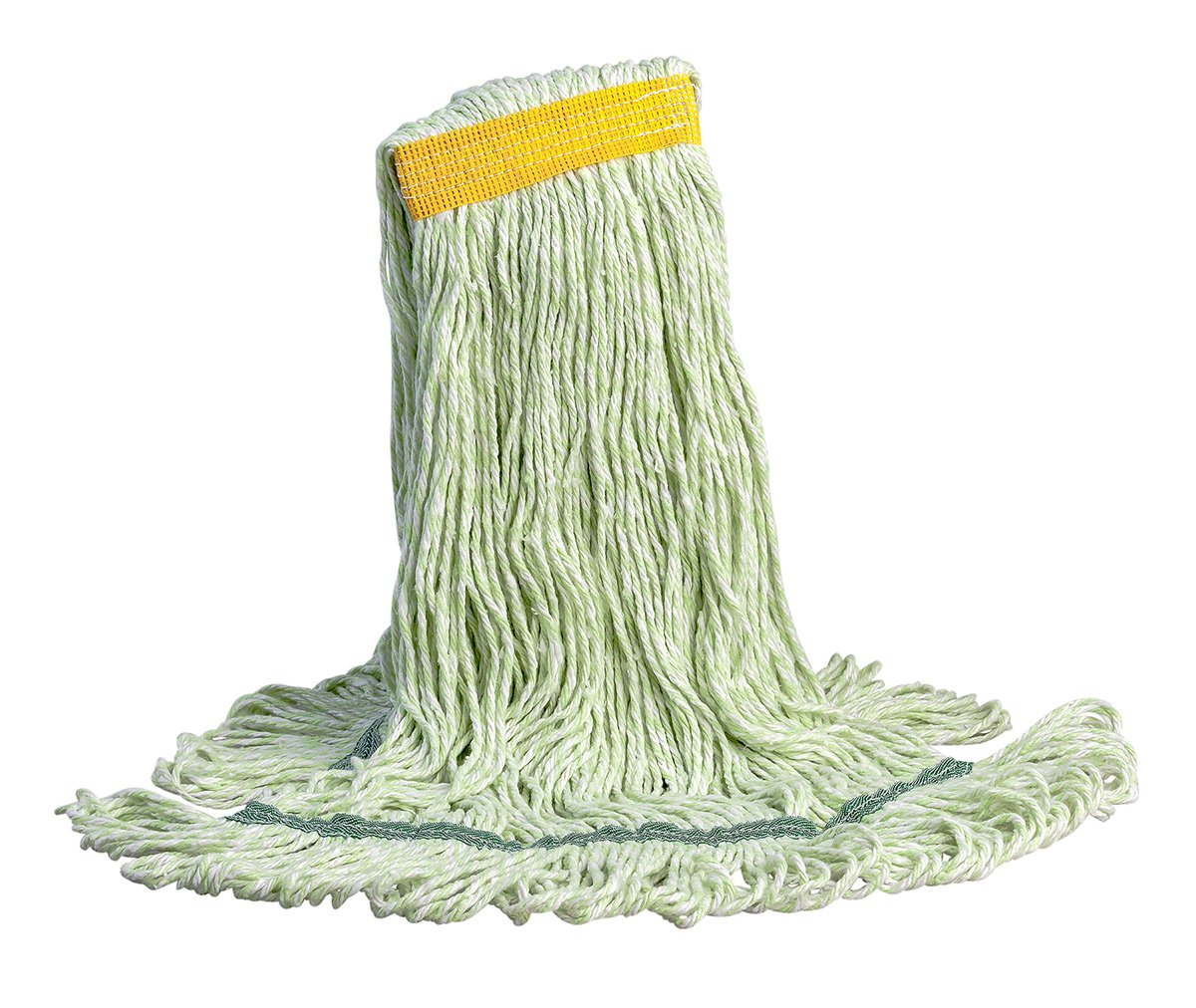 M2 Professional Micro PET Eco-Series Synthetic Large Looped-End Mop Replacement Head, 1.5'' Headband - Case of 12 - For Industrial, Commercial & Home use, Hardwood, tile, etc.