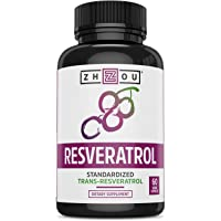 Resveratrol Supplement for Healthy Aging, Immune System & Heart Health Support - Standardized to 50% Trans Resveratrol…
