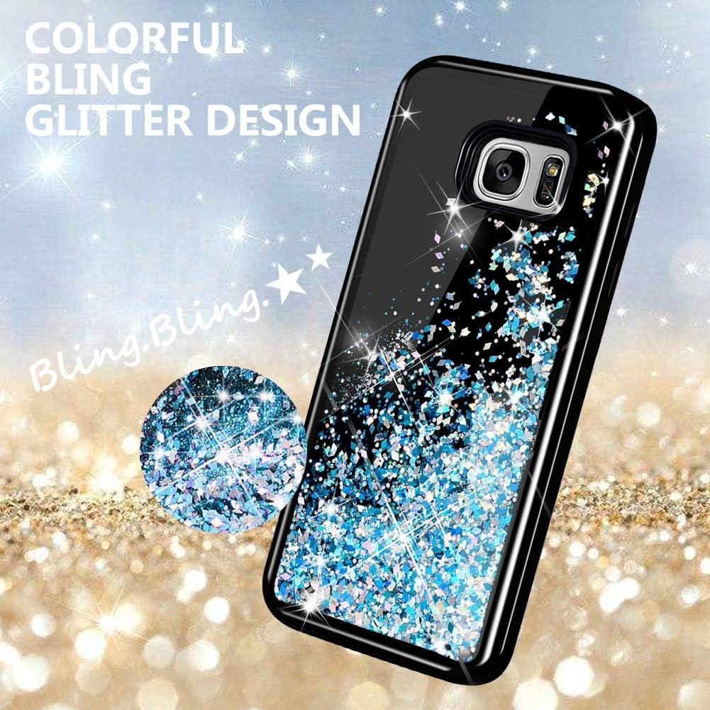 KOUYI Galaxy S7 H/ülle Glitzer Flie/ßen Fl/üssig Glitzer Mode 3D Bling Dynamisch Silikon Flexible TPU Kreativ Shiny Glitter Cover Besch/ützer f/ür Samsung Galaxy S7 Lila