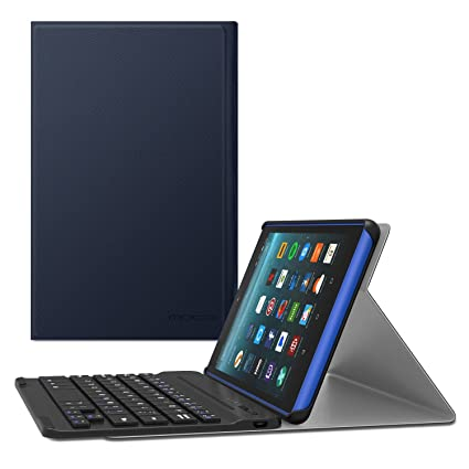 MoKo Keyboard Case for All-New Amazon Fire 7 Tablet - Wireless Keyboard Cover with