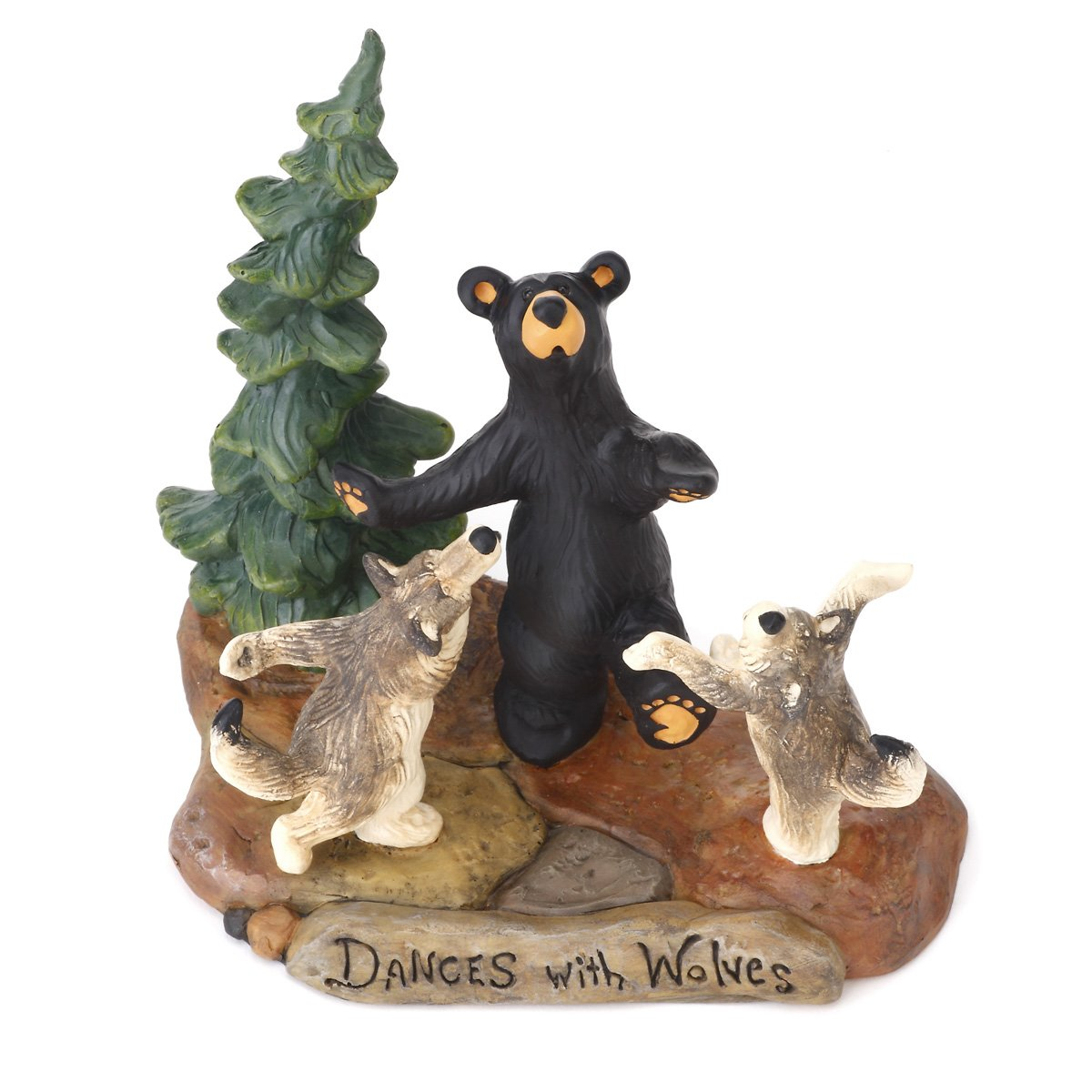 Big Sky Carvers Dances with Wolves Figurine