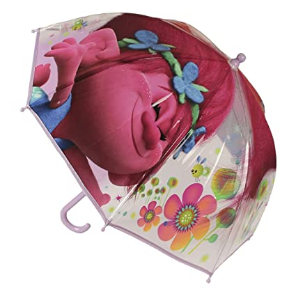 Children Kids Official Dreamworks Trolls Poppy Character Umbrella by Vinsani