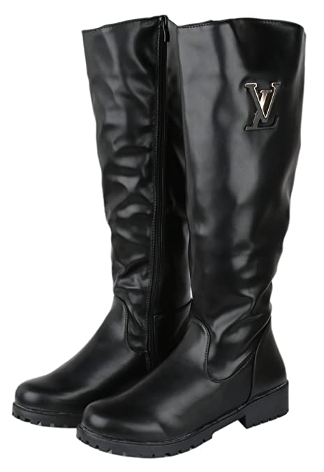 9bec0debc6f Irsoe Girl Women s Leather Fashion Over Knee Boot  Buy Online at Low ...