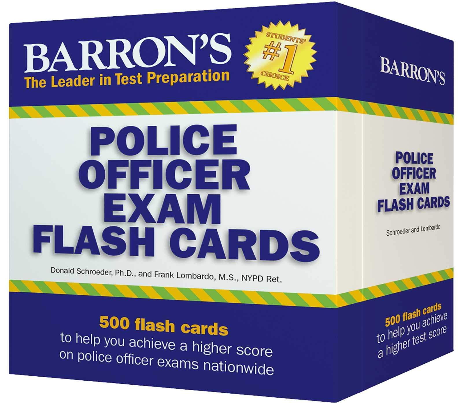 Barron's Police Officer Exam Flash Cards: Donald J. Schroeder Ph.D., Frank  Lombardo M.S. NYPrint Flashcards Ret.: 9781438077703: Amazon.com: Books