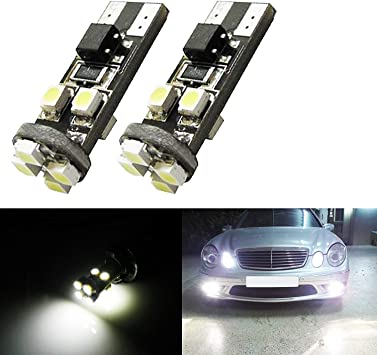 Xenon White Can-bus Error Free 22-SMD W5W 2825 LED Bulbs For Mercedes Parking Lights Xotic Tech Direct