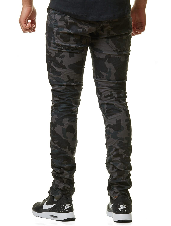 New Stone Herren Jeans Hose Denim Slim Fit Grau Verwaschen Stonewashed  ZS523 ZS523 ZS551, Hosengröße W28 L32, Farbe Camouflage  Amazon.de   Bekleidung 73617e7eed