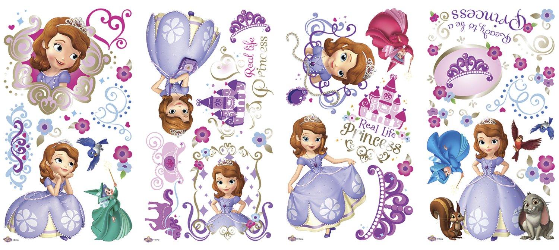 RoomMates Childrens Repositonable Disney Wall Stickers Sofia the