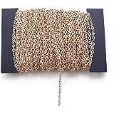 Fodattm 32.8 voet stoeprand ketting Bulk kabel gedraaid kruis ketting voor ketting sieraden accessoires DIY maken 2 x 3 mm KC gold