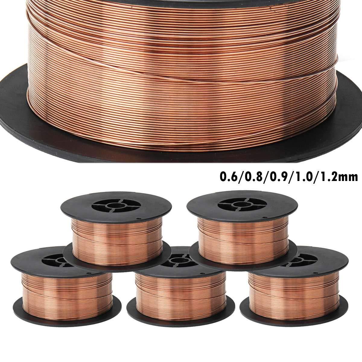 0.6/0.8/0.9/1.0/1.2mm 1KG Carbon Steel Gas Shielded Welding Wire Mild Steel ER70S-6 / ER50-6 MIG Welding Wires,0.8mm by WGang