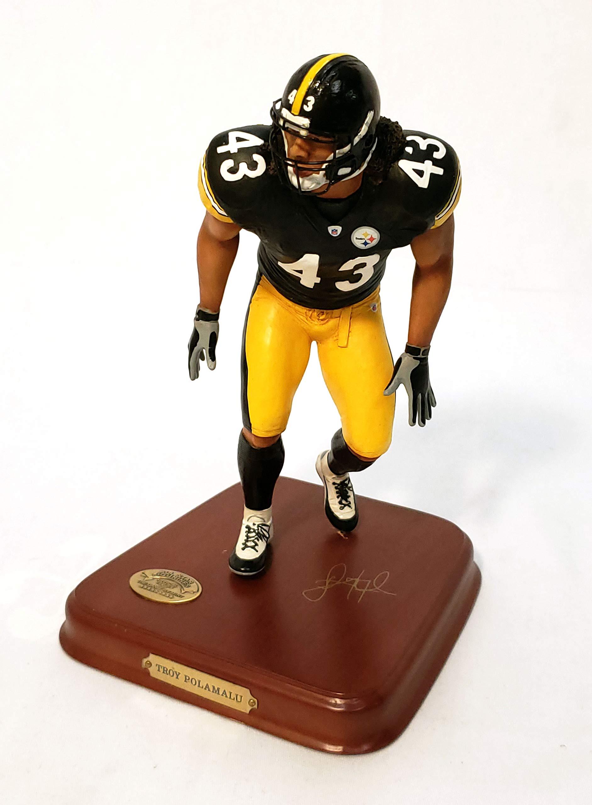 Pittsburgh Steelers Troy Polamalu Danbury Mint Statue Figurine w/COA
