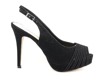 c96655991 Menbur - Paco Mena Sandalias de Vestir de Material Sintético Para Mujer  Negro Glitter Nero  Amazon.es  Zapatos y complementos