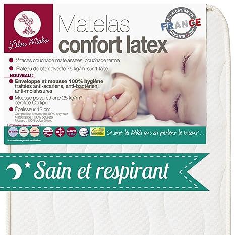 Lilou Miaka Látex Colchones - Sobre Y Espuma 100% Salud - 60 x 120 x