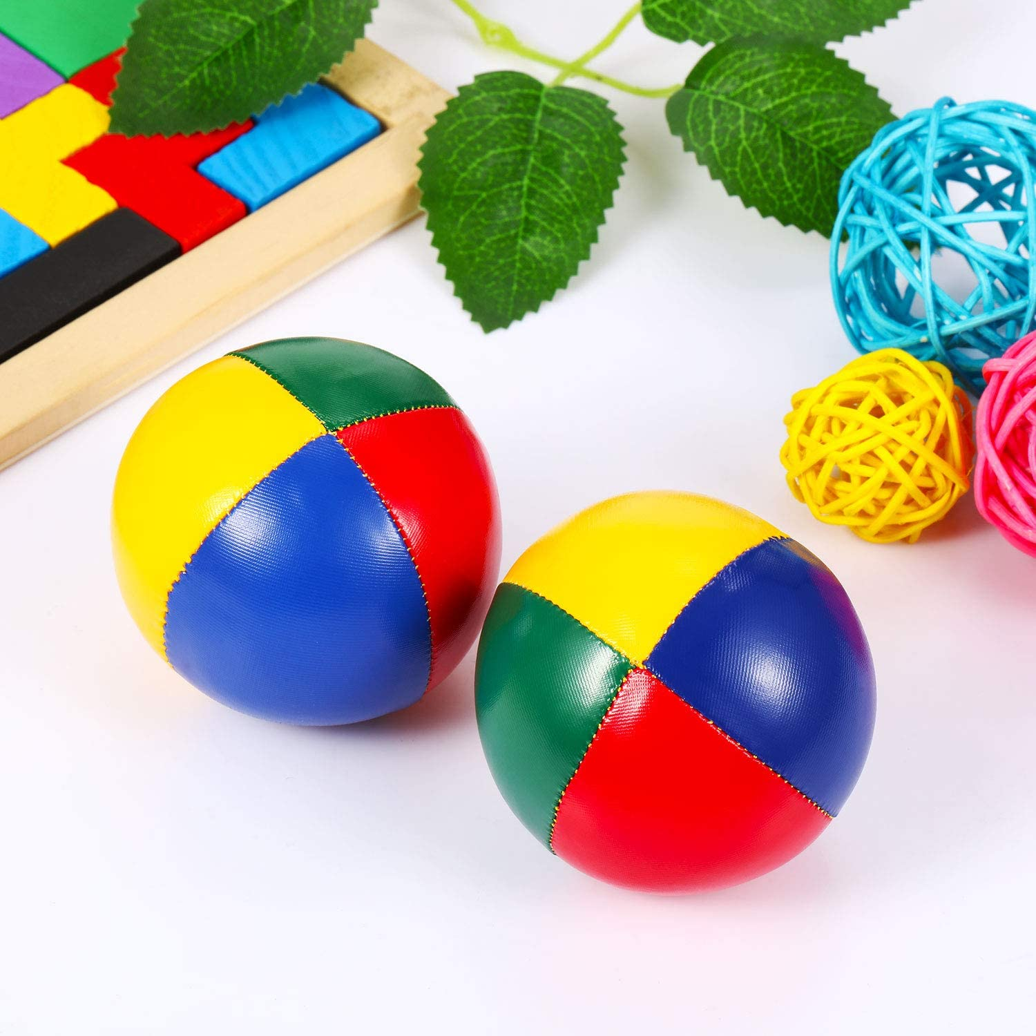 Light and Soft Juggle Balls Goodie Bag Fillers Juggling Balls for Beginners Soft Juggle Balls for Kids and Adults Playko 2.5 Inch Juggling Balls Pack of 3 Multicolored Juggling Balls Set