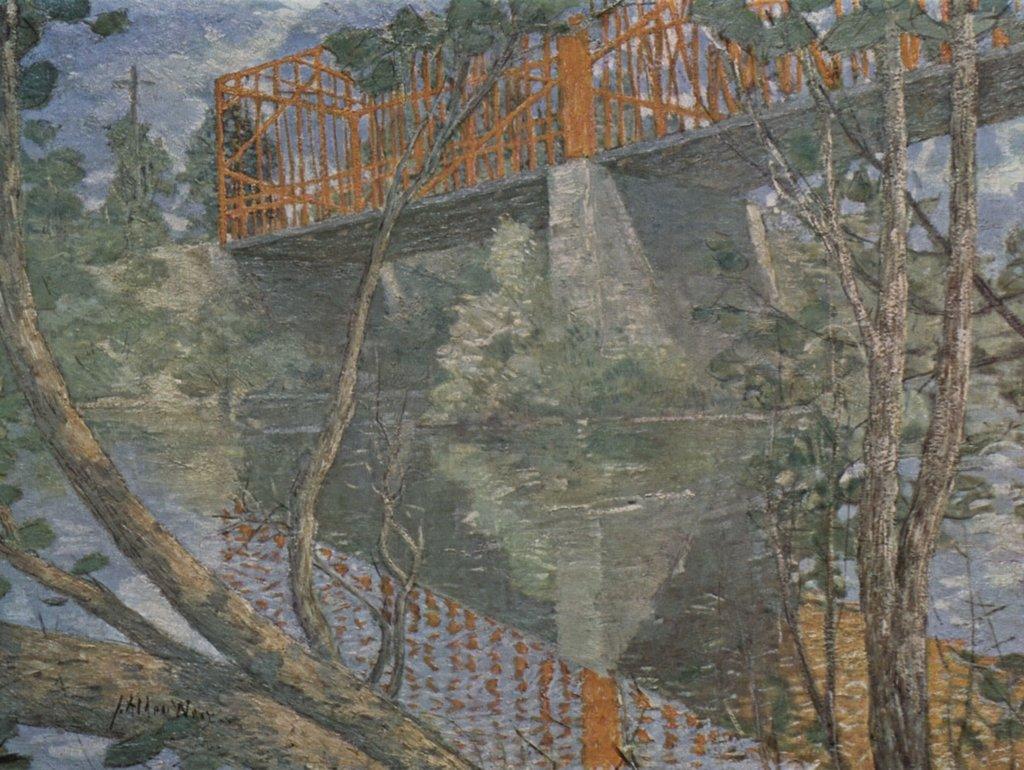 Lais Puzzle Julian Alden Weir - The rosso Bridge 2000 Pezzi