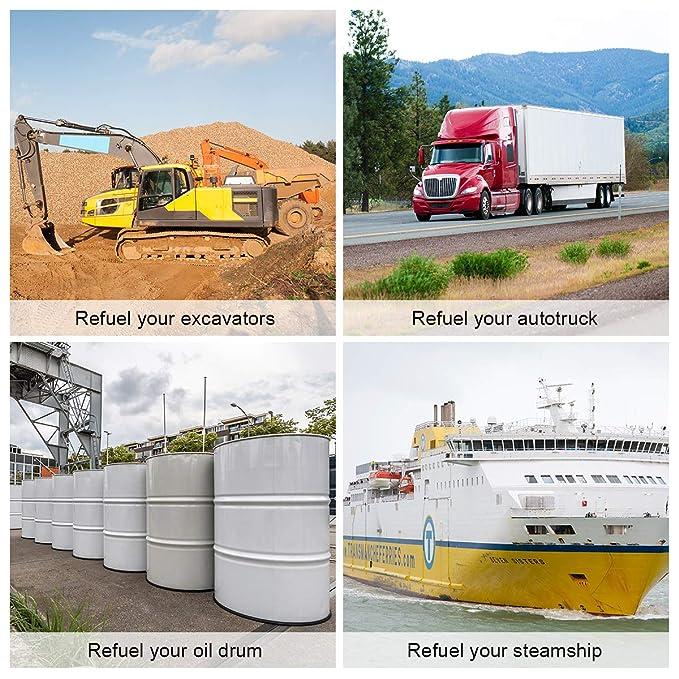 Goplus 12V 10GPM Electric Fuel Transfer Pump Kit Diesel Kerosene Oil  Transfer Extractor W/Hose & Nozzle