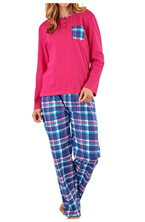Ladies Tartan Check Pyjamas by Slendrella  Amazon.co.uk  Clothing c9cbd1351