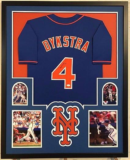 wholesale dealer 4bf88 83546 Framed Lenny Dykstra Autographed Signed N.Y. Mets Jersey ...