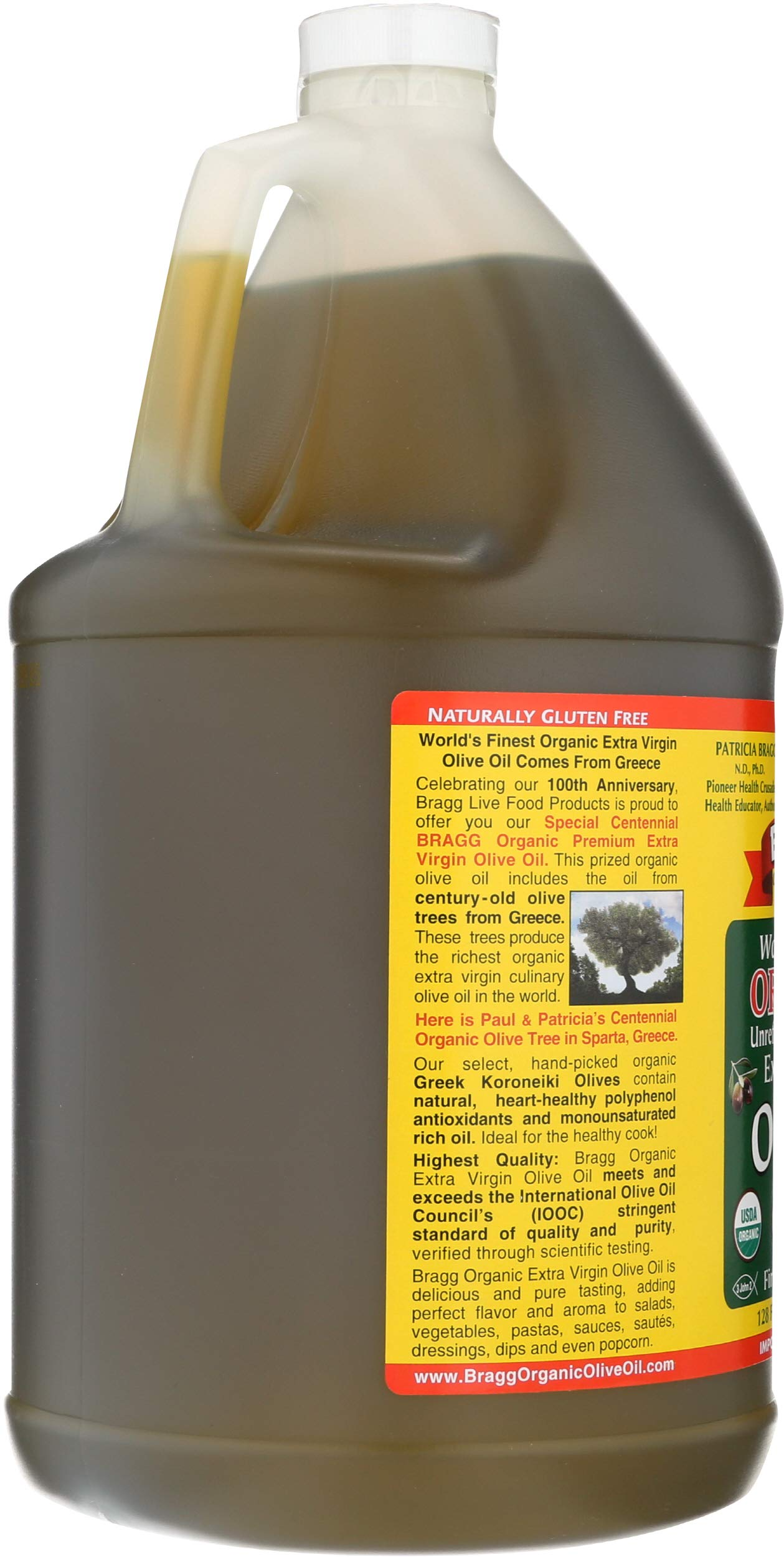 Bragg Organic Extra Virgin Olive Oil, 128 Ounce by Bragg (Image #4)