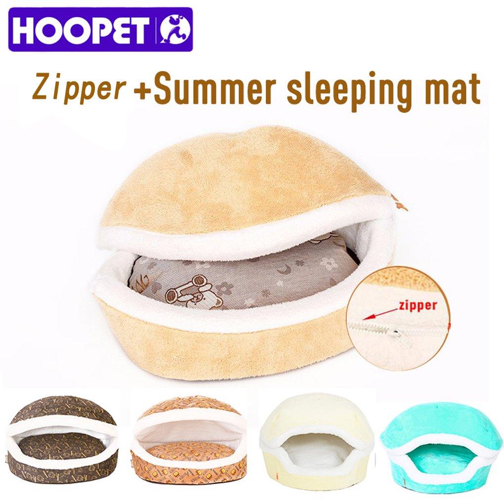 Cálido cama gato cama casa hamburguesa disassemblability cortavientos Pet Puppy Dog nido shell Hiding hamburguesa Bun para invierno: Amazon.es: Productos ...
