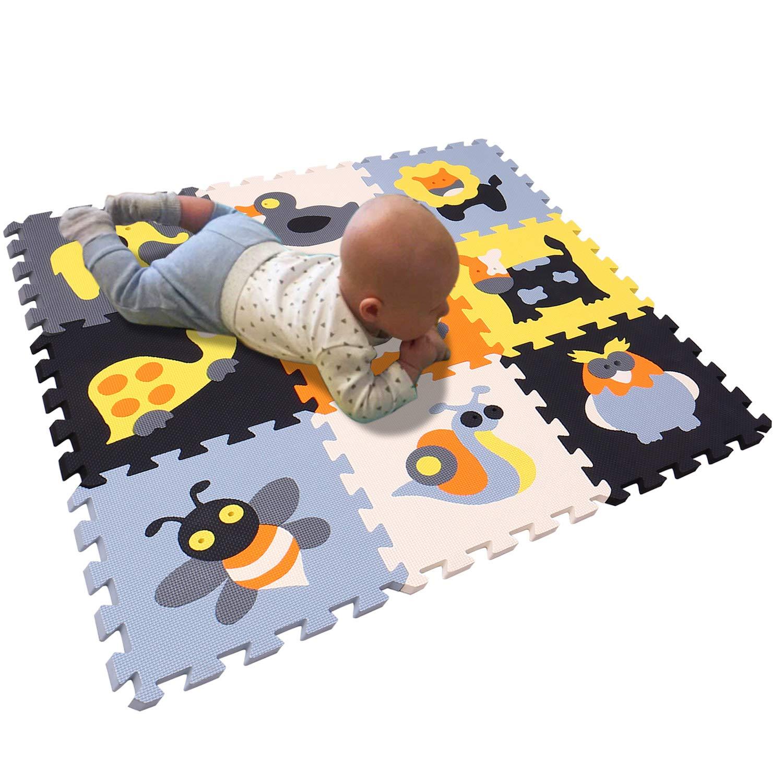 BUCHAQIAN Alfombra Puzzle para Ni/ños Bebe Infantil esteras Espuma EVA Infantiles Suelo de Espuma Tapete de Juego Suave Beb/é Manta Juegos P028028G321218