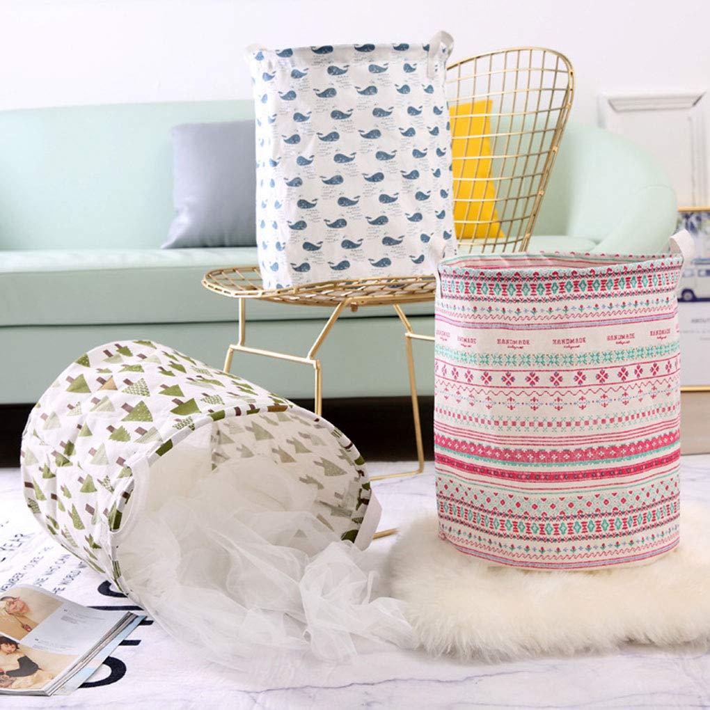 OmkuwlQ Dirty Clothes Organizing Basket Folding Storage Box Cotten Laundry Bag Kids Toy Organizer