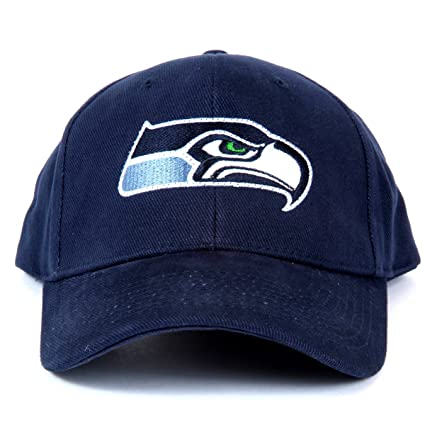 a03678bf004 Amazon.com   NFL Seattle Seahawks LED Light-Up Logo Adjustable Hat   Sports  Fan Baseball Caps   Sports   Outdoors