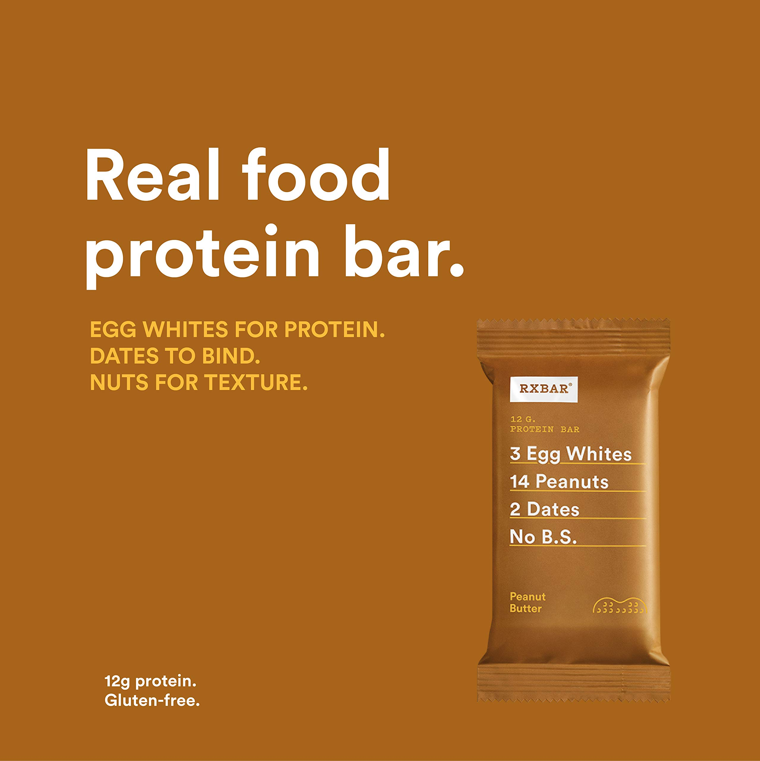 RXBAR Whole Food Protein Bar, Peanut Butter, 1.83 Ounce (Pack of 24) by RXBAR (Image #3)
