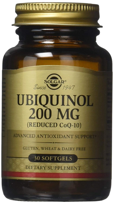 Ubiquinol (Reducido CoQ10), 200 mg, 30 cápsulas blandas - Solgar: Amazon.es: Salud y cuidado personal