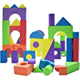 Giant Foam Building Blocks, Building Toy for Girls and Boys, Ideal Blocks Construction Toys for Toddlers, 50 Pieces…