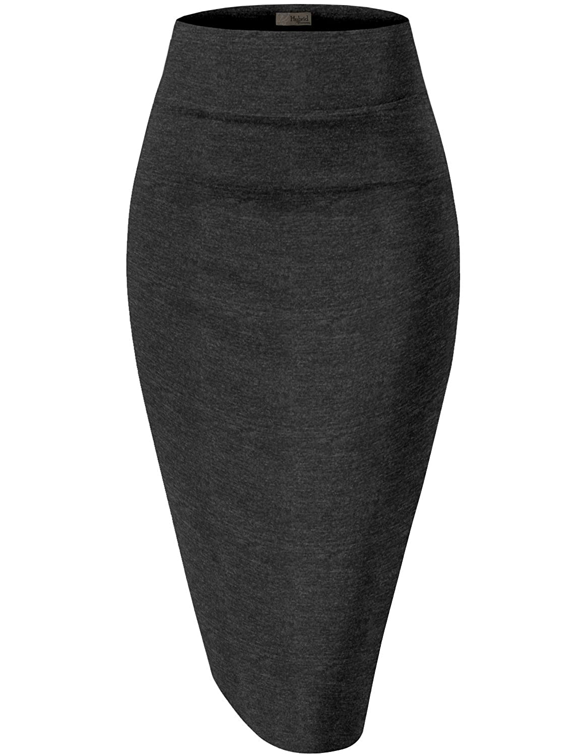 H&C Womens Premium Nylon Ponte Stretch Office Pencil Skirt Made in USA