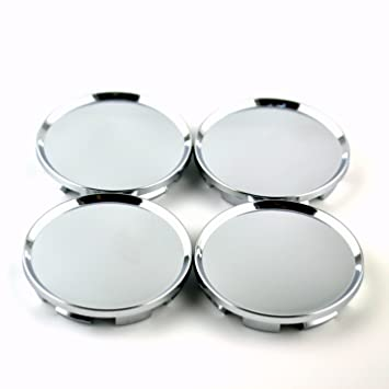 Amazon 63mm Silver Car Wheel Center Hub Caps Base Set Of 4 For