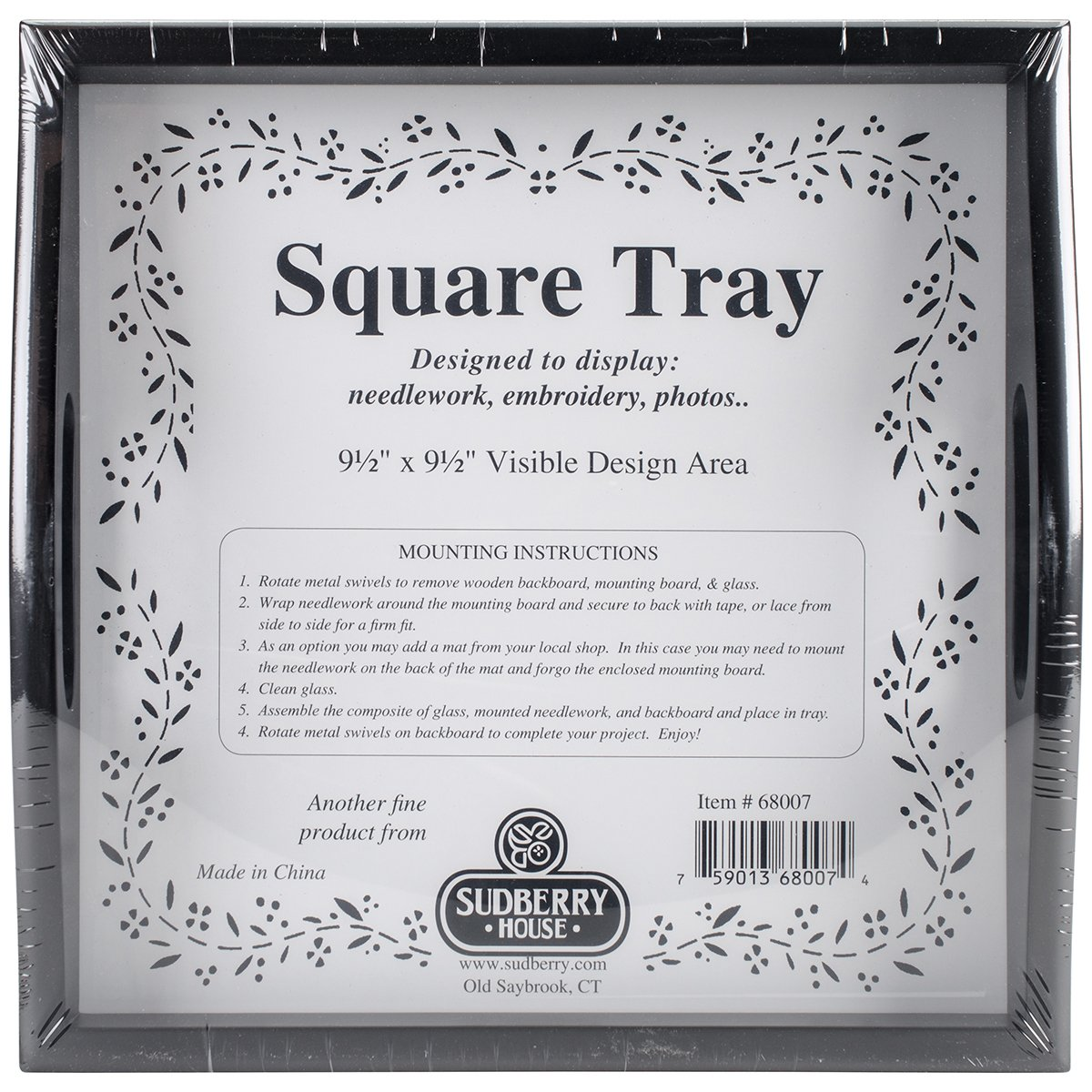 Sudberry House Small Square Tray, 10 x 10, Black by Sudberry House