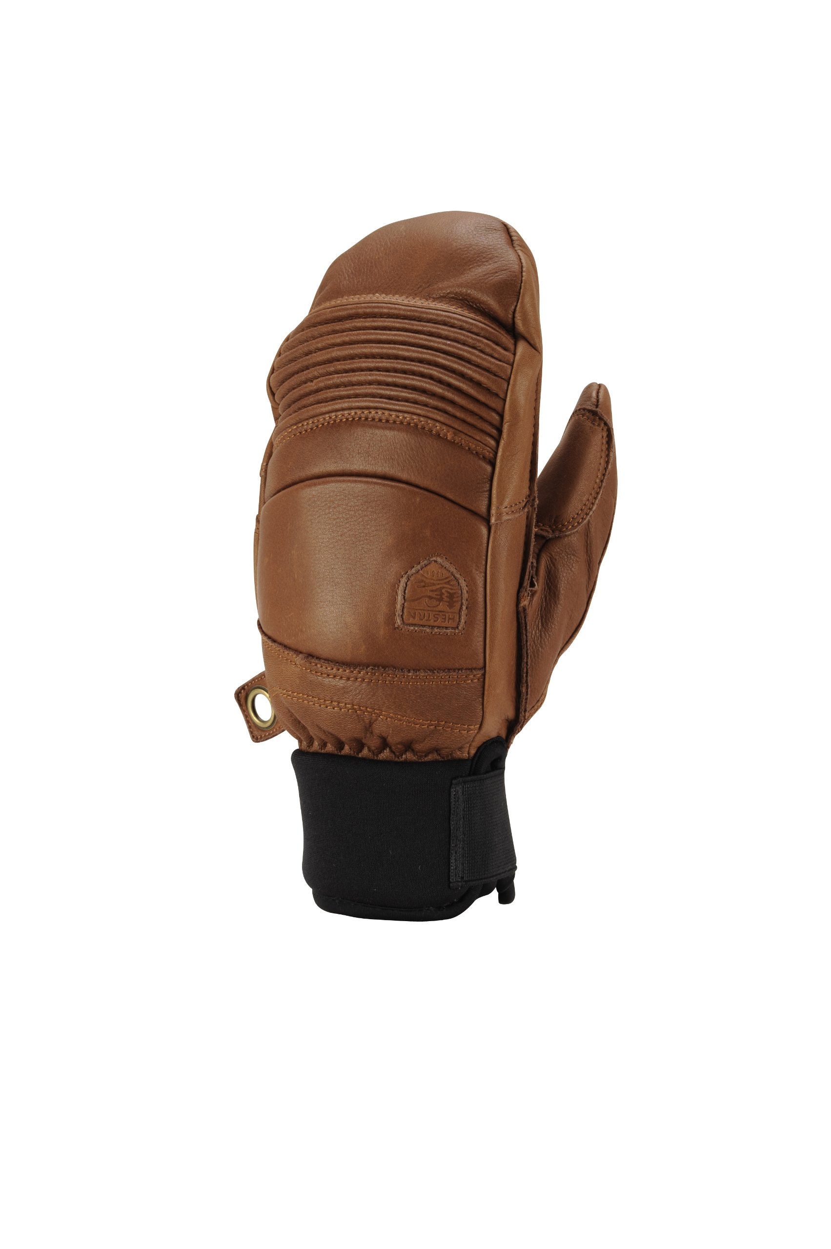 Hestra Leather Fall Line Short Ski Mitten,Brown,9 by Hestra