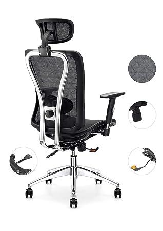 Amazon.com: Cedric ergonómico silla de oficina de malla ...