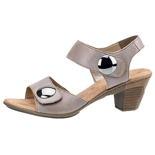 100% Spitzenqualität üppiges Design Modern und elegant in der Mode Rieker Women's Aileen 69 Sandal