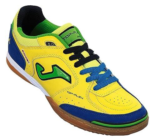 Zapatillas de fútbol Sala Joma Top Flex 409 Giallo-Royal Indoor Amarillo Size: 40: Amazon.es: Zapatos y complementos