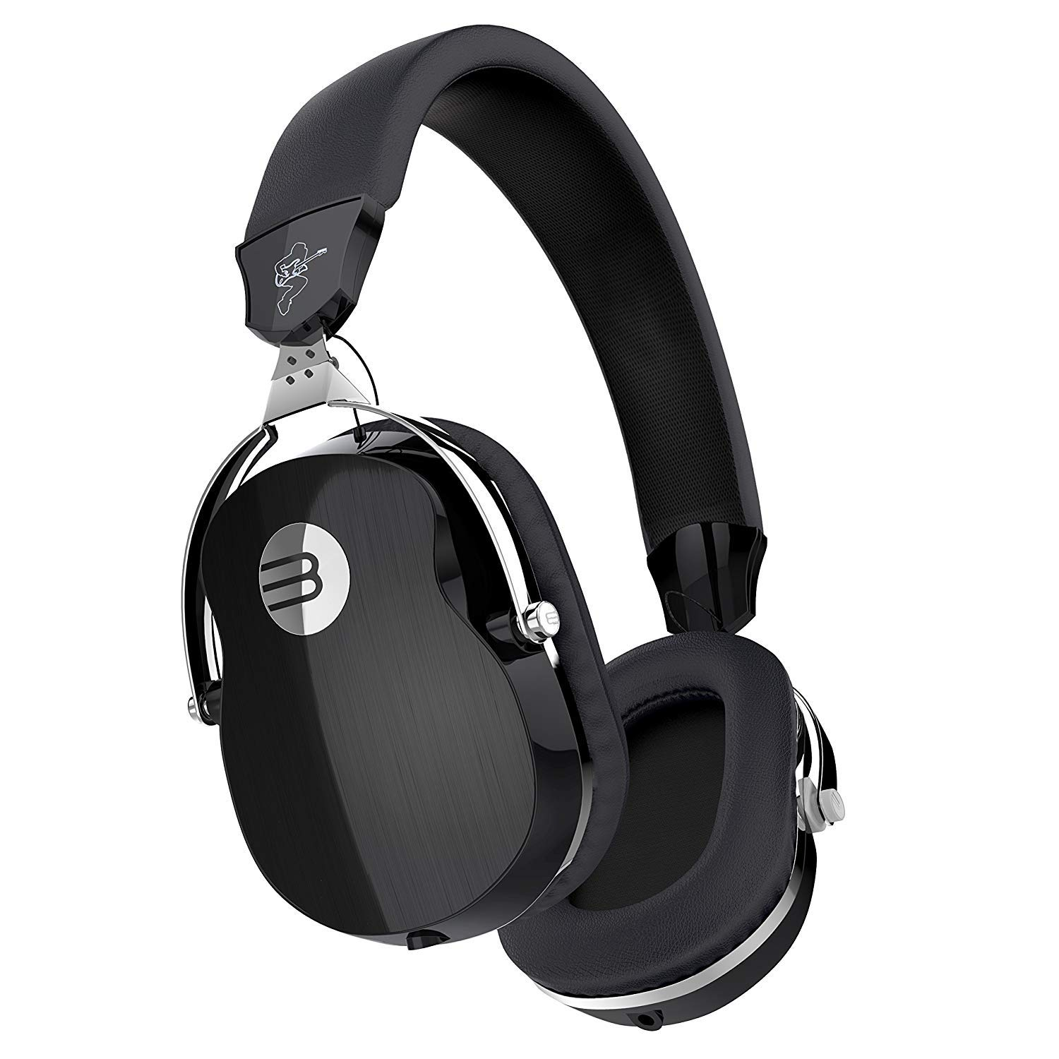 Vomercy Over-Ear Music Headset HiFi Stereo Headphones Clear Bass Built-in Mic Foldable Rotatable Black