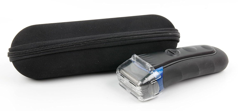 DURAGADGET Black Protective EVA Shell Case Carabiner Clip The Braun Series 3 300s | ProSkin 3090cc | Braun Series 3 3020 | Braun Series 5-5030s | Braun Series 9 920cc & 9290CC Electric Shavers 5057535953672