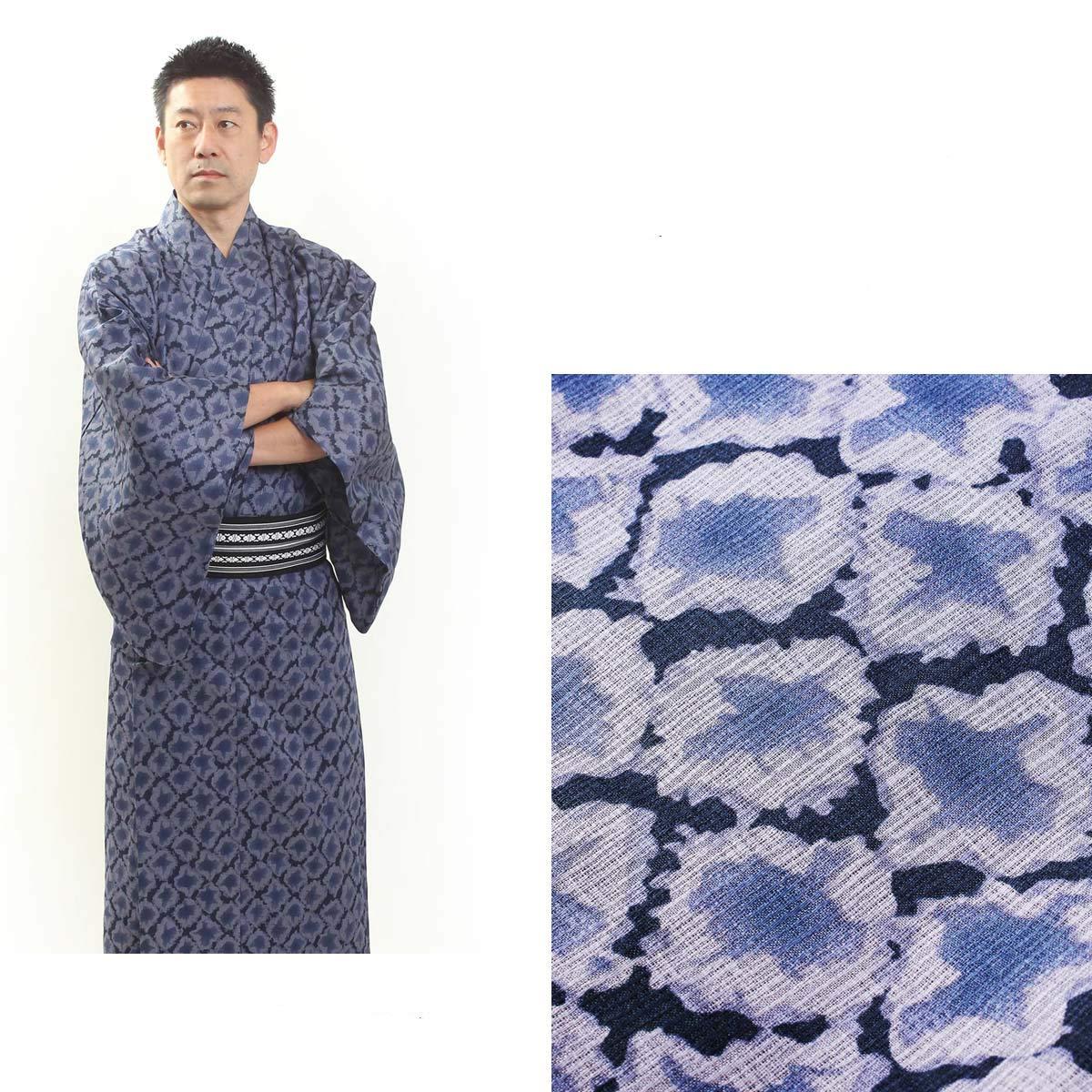 Yukata M Black Luxury Japanese Mens Summer Kimono