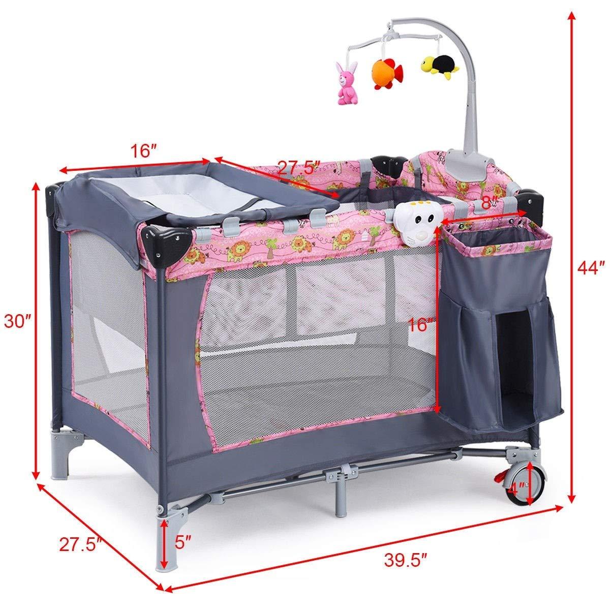 Baby Trend Nursery Playard Pack-N-Play Portable Bassinet Napper Crib Free Ship