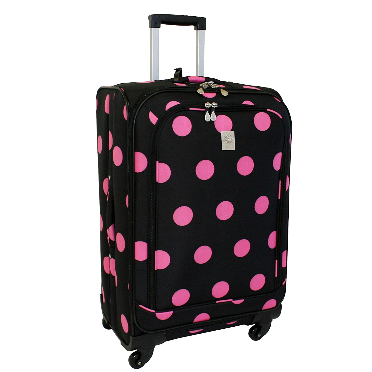 Pink And Black Suitcase Mc Luggage